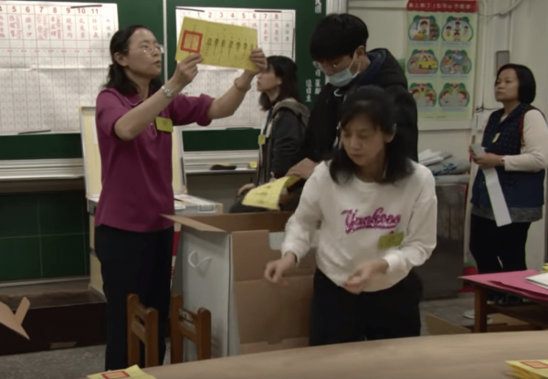 The turnout rate for this election was as high as 74 percent, and tens of thousands of Taiwanese living abroad returned home to cast their votes. (Image: YouTube/Screenshot)