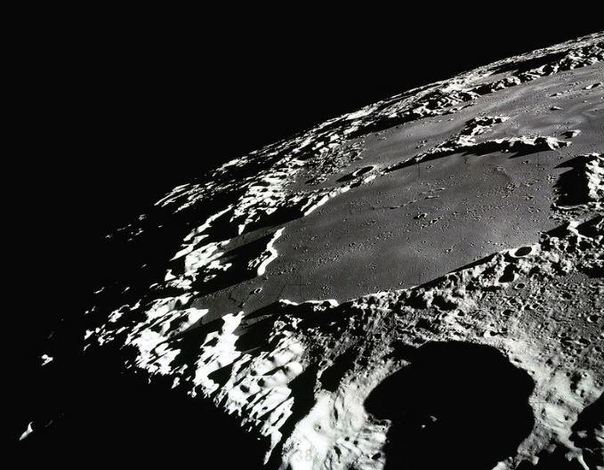 Some craters near the Moon's poles never receive any sunlight. Permanently engulfed in frigid darkness, these craters are appropriately called cold traps. (Image: NASA)