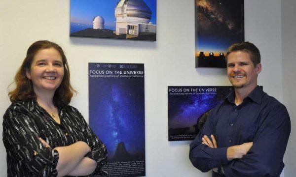 Photo shows Gillian Wilson (left) and Benjamin Forrest. (Image: I. Pittalwala, UC Riverside)