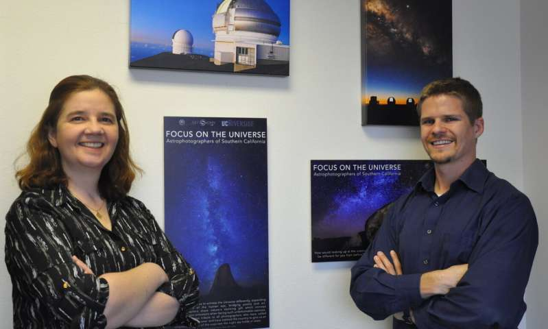 Photo shows Gillian Wilson (left) and Benjamin Forrest. (Image: I. Pittalwala, UC Riverside)