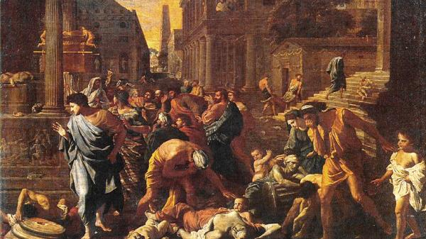 French artist Nicolas Poussin (1594 ~ 1665), 1630 oil painting entitled 'The Plague of Ashdod.' (Image: wikipedia / CC0 1.0)