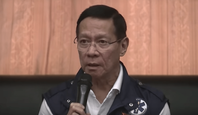Health Secretary Francisco Duque announcing that a 44-year-old man from Wuhan, where the virus was first reported, died in a hospital in Manila. (Image: YouTube/Screenshot )