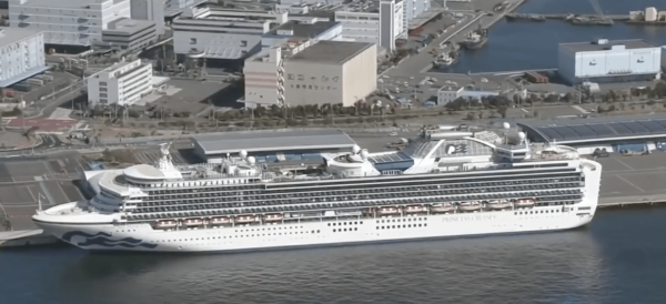 Japan's Health Ministry says 65 additional people on board the Diamond Princess cruise ship have tested positive for the new coronavirus. (Image: YouTube/Screenshot)