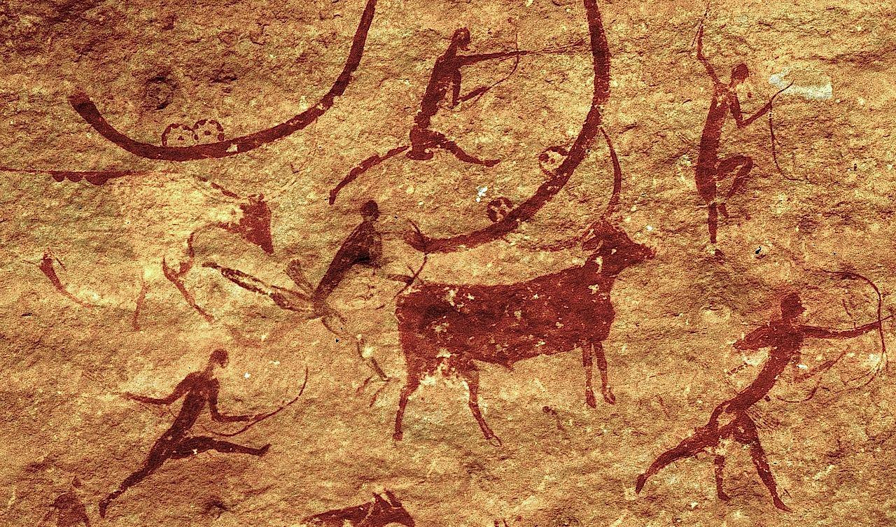 Cave paintings often depict hunting activities but plants were the staple food for Stone Age people, say researchers. Image credit - Gruban/wikimedia commons, licenced under CC BY-SA 2.0