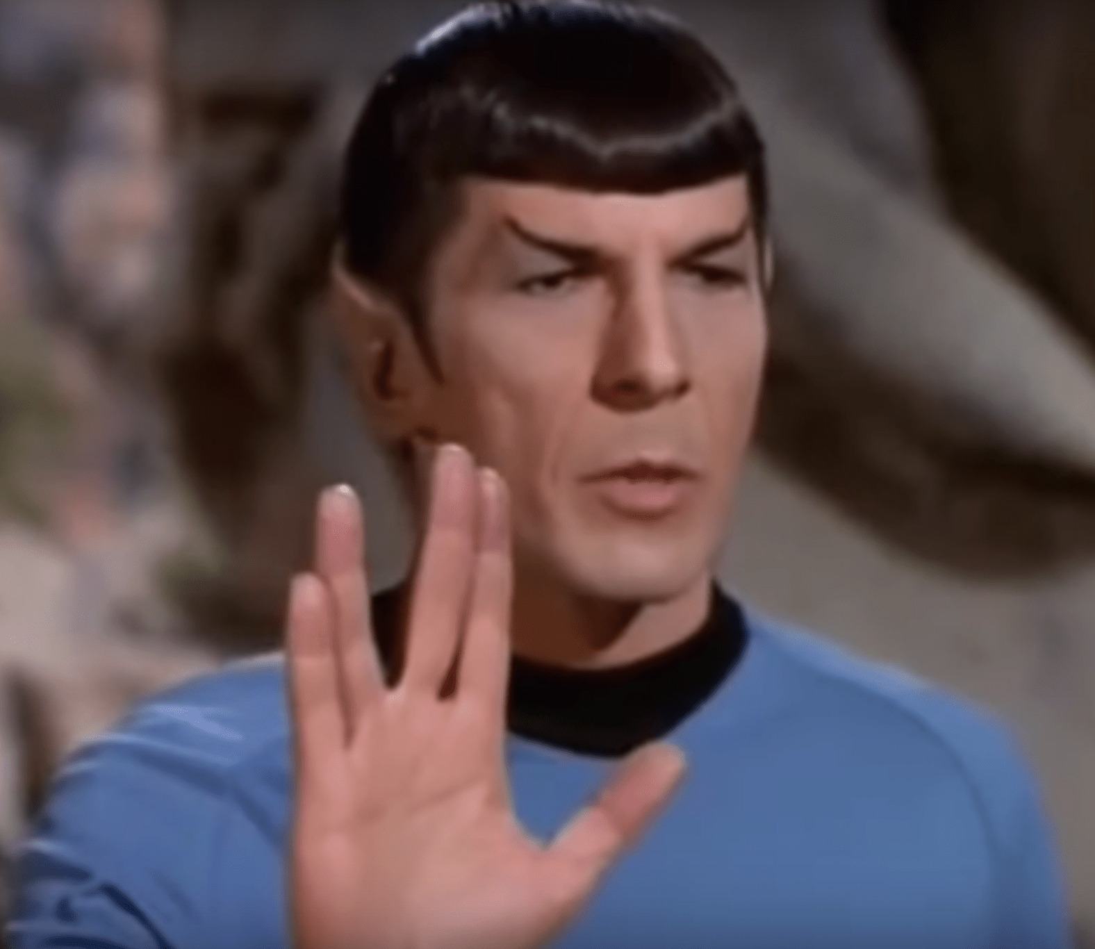 The Vulcan greeting is popular with Star Trek fans. (Image: YouTube/Screenshot)