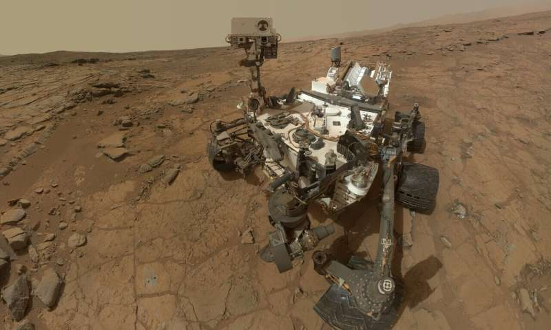 This self-portrait of NASA's Mars rover Curiosity combines dozens of exposures taken by the rover's Mars Hand Lens Imager (MAHLI) during the 177th Martian day, or sol, of Curiosity's work on Mars (Feb. 3, 2013), plus three exposures taken during Sol 270 (May 10, 2013) to update the appearance of part of the ground beside the rover. (Image: NASA)