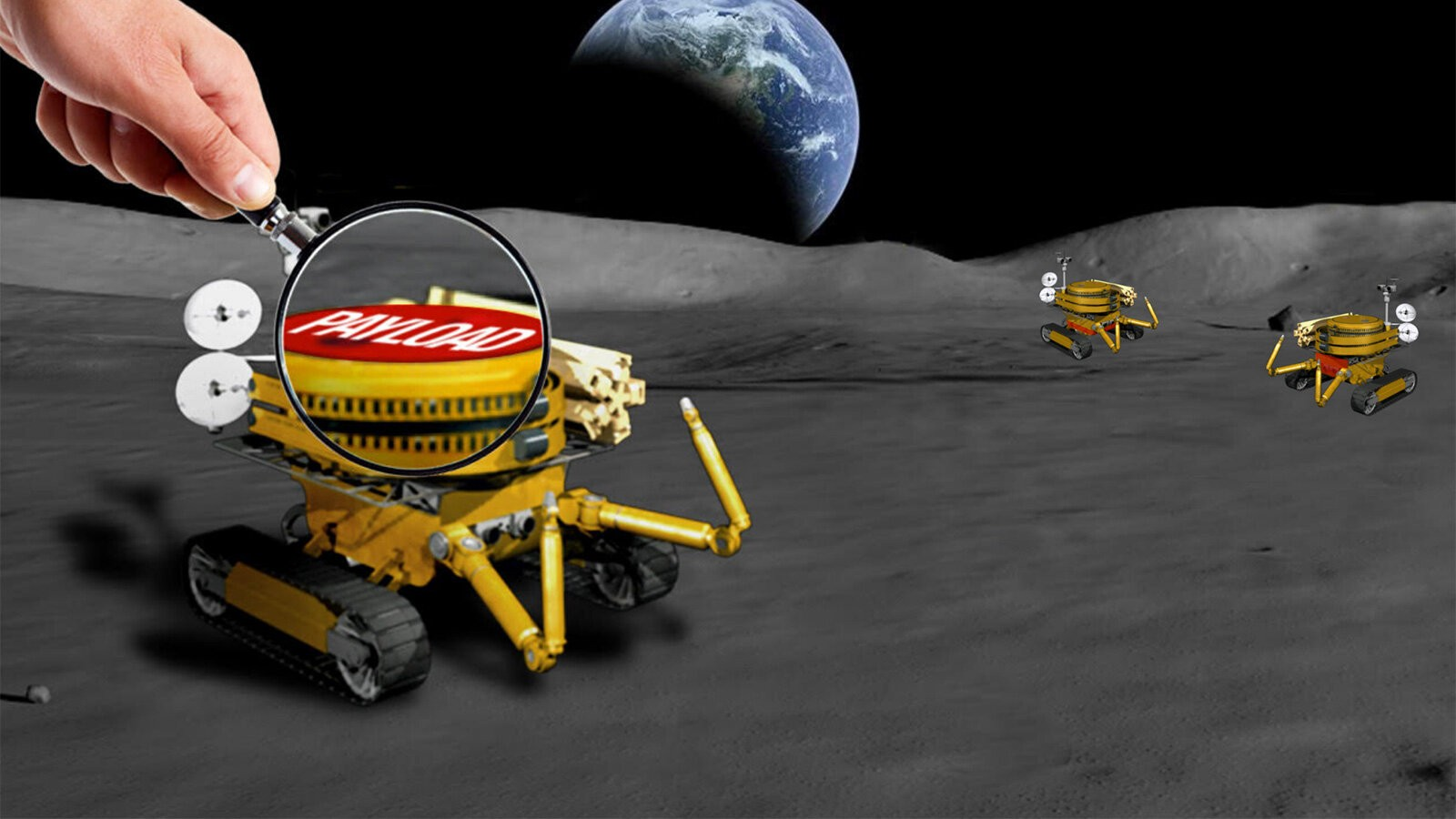 The JPL-led challenge is seeking tiny payloads no larger than a bar of soap for a miniaturized Moon rover. (Image: NASA)