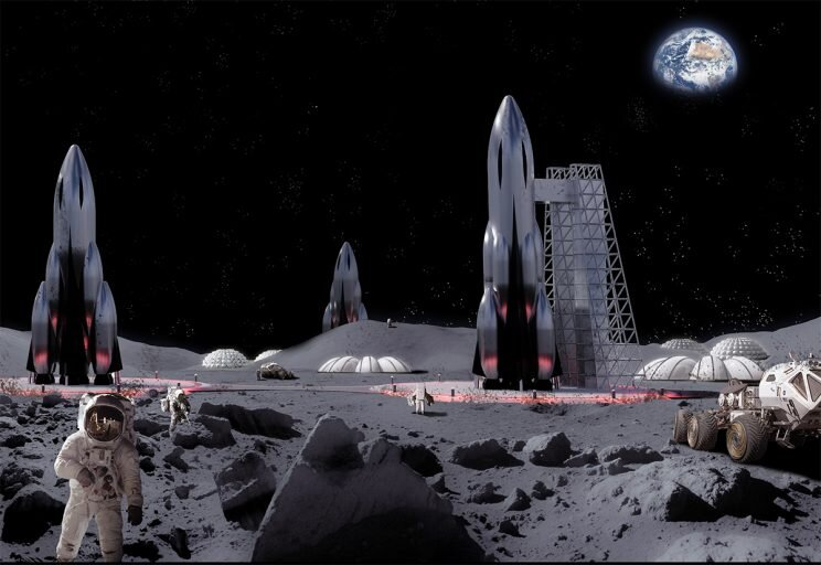 Artist's impression of a lunar base. (Image: Newspace2060)