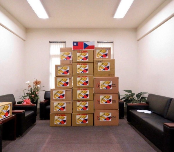 The medical supplies donated to the Czech Replublic. (Image: Ministry of Foreign Affairs, Taiwan)