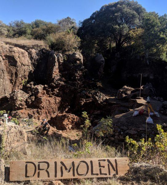 The drimolen fossil site. (IMage: Andy Herries)