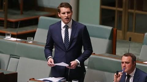 Andrew Hastie, the Chair of Australia's Parliamentary Joint Committee on Intelligence and Security, condemns the Chinese owner of a property development company for shipping massive quantities of medical supplies out of Australia. (Image: Screenshot / YouTube)