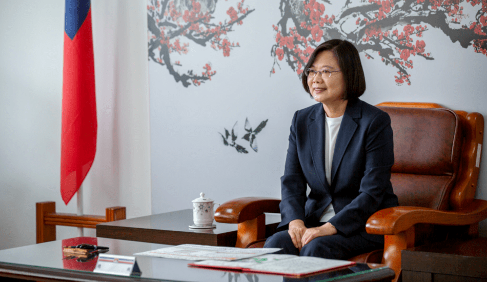 Taiwanese President Tsai Ing-wen tweeted that the TAIPEI Act is a testament to America and Taiwan's unified stance against threats to values like democracy and human health. (Image: 總統府 via flickr CC BY 2.0 )