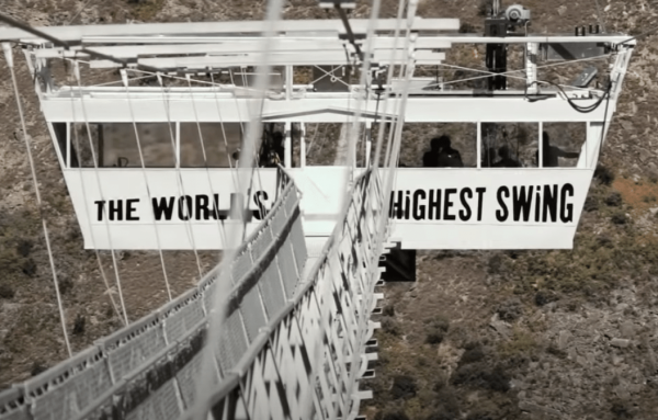 The Nevis Swing is the world's biggest bungee swing. (Image: YouTube/Screenshot)
