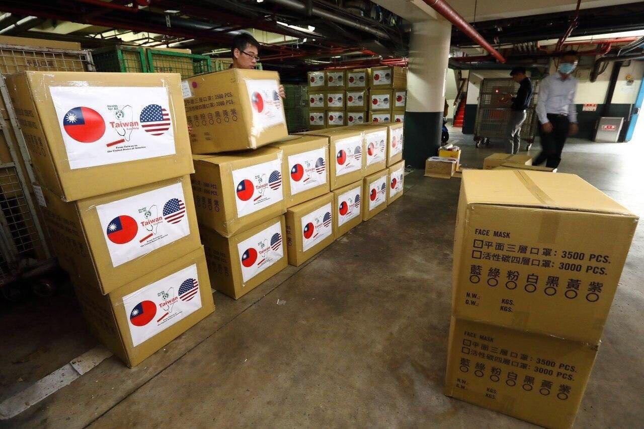Part of the face masks donated to the United Stated. (Image: Ministry of Foreign Affairs, Taiwan)