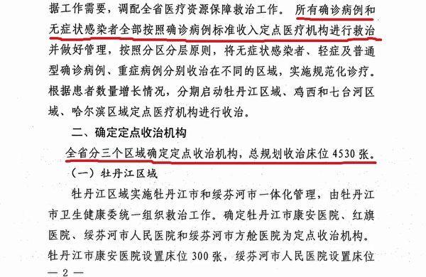 A screenshot of the April 8 document from the Heilongjiang provincial health commission. (Image: The Epoch Times)
