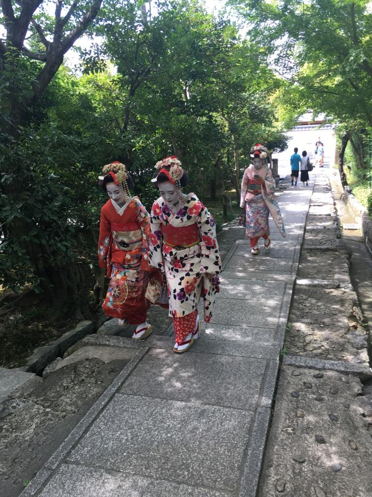 In Kyoto, the streets are full of history. The shrines and temples, spectacular natural beauty, bars and restaurants, stalls selling cured meat, dessert, antiques and china, the exotic geishas, tourists donning traditional dress. (Image: Vision Times)