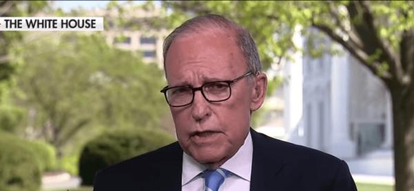 White House National Economic Adviser Larry Kudlow speaking to Fox Business on April 9. (Image: YouTube/Screenshot)