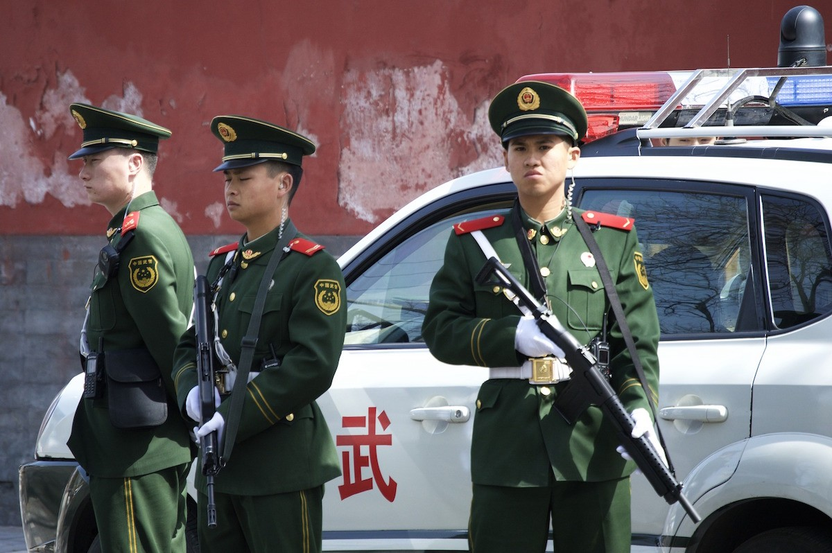 A file image of Chinese police.