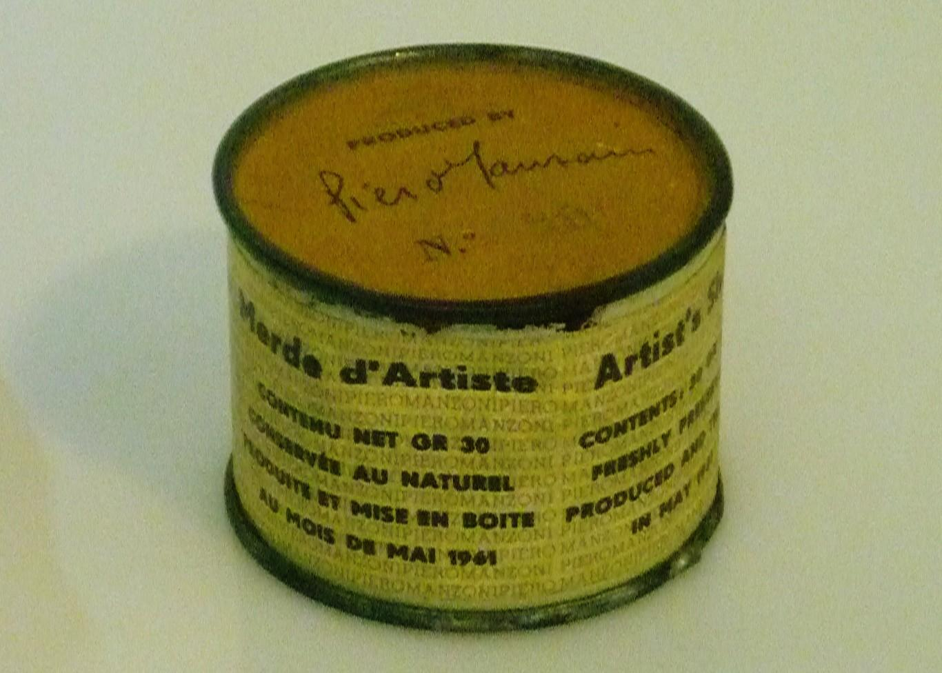 A can of excrement by Piero Manzoni. (Image: Mark B. Schlemmer via Flickr CC BY 2.0 )