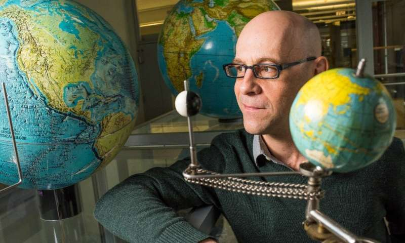 U of A geophysicist Mathieu Dumberry led a new study that may explain why changes to Earth's protective magnetic field are weaker over the Pacific—a puzzling phenomenon scientists have been trying to figure out since first observing it in the 1930s. (Image: John Ulan)