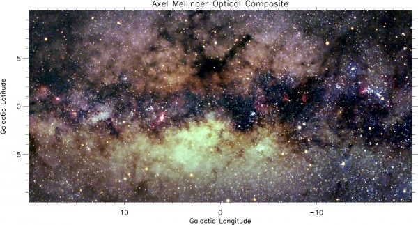 Optical Milky Way image. (Image: Axel Mellinger)