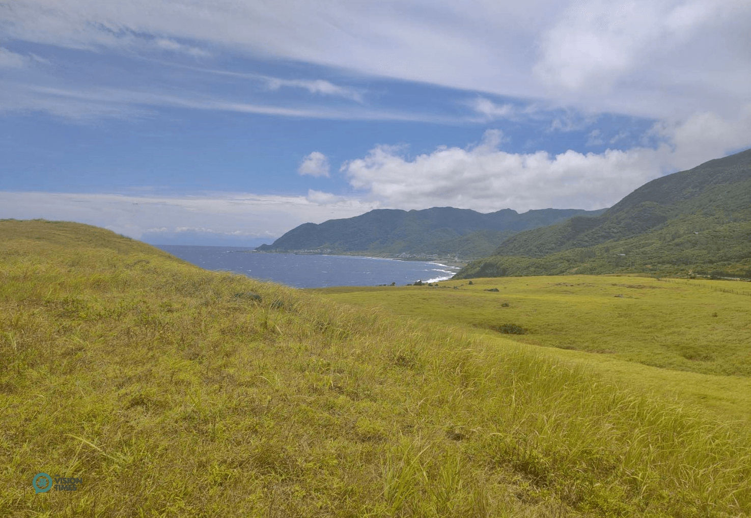 The Green Green Grassland (青青草原) in Orchid Island. (Image: Billy Shyu / Vision Times)