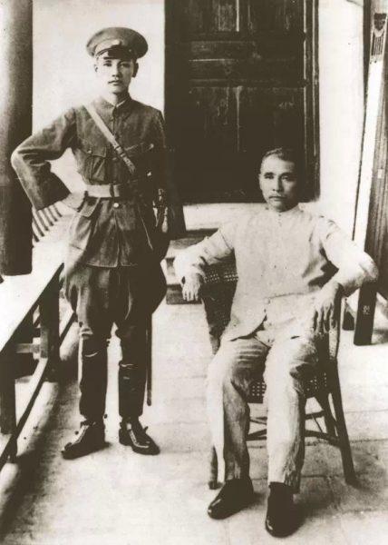 Sun Yat-sen (seated on right) and Chiang Kai-shek. (Image: Wikimedia / CC0 1.0)