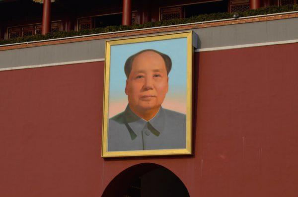 Image of late Chinese communist leader Mao Zedong in Tiananmen Square, Beijing. (Image: Kirill Sharkovski/Unsplash)