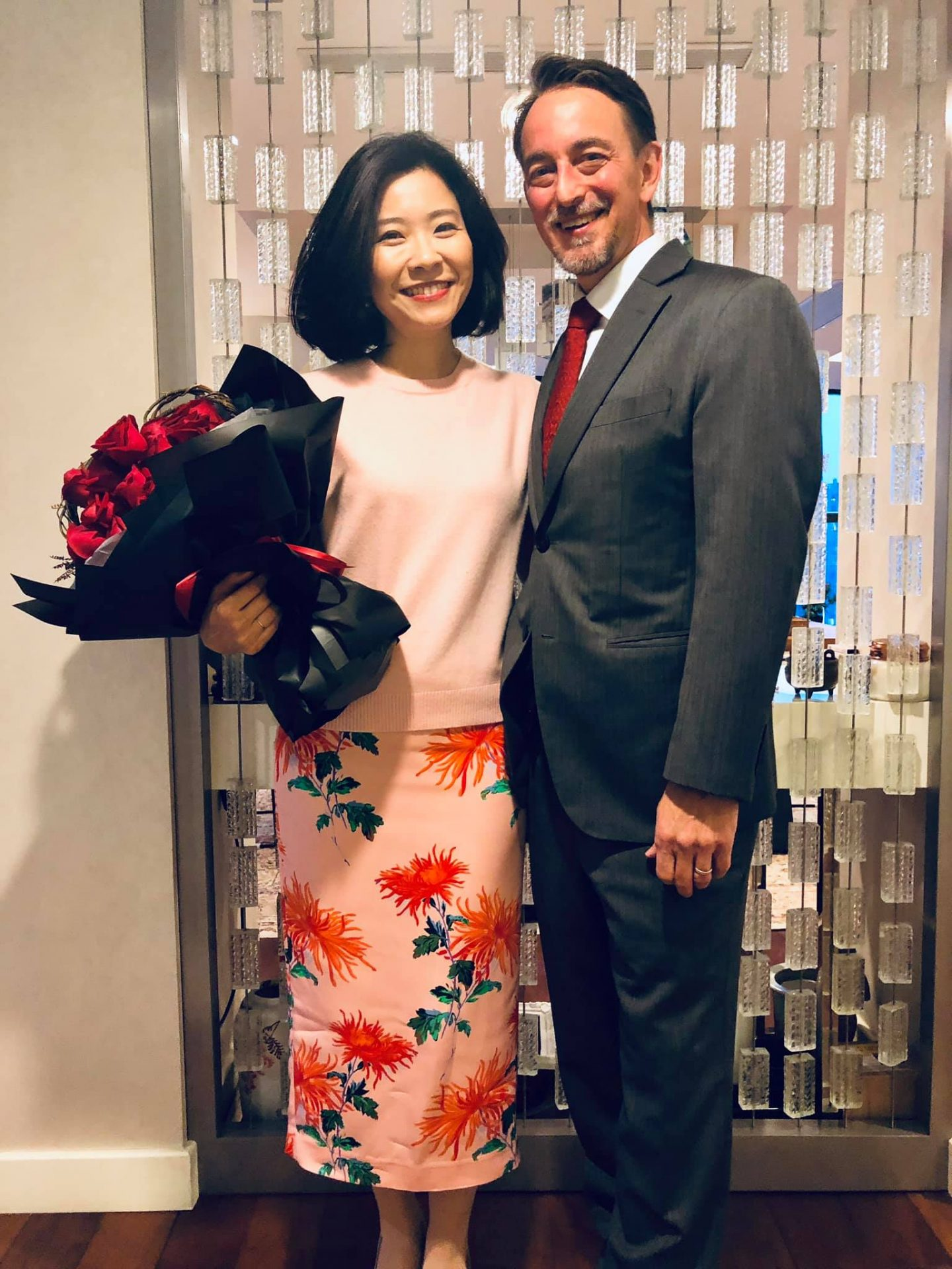 Chuang Tzu-i with her husband, U.S. consul general Jim Mullinax. (Image: Facebook)