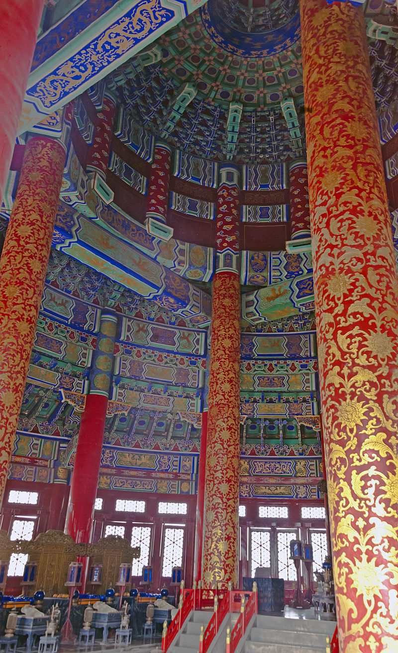 Inside the Hall of Prayer for Good Harvests. (Image: Daniel Case via Wikimedia CC BY 3.0)