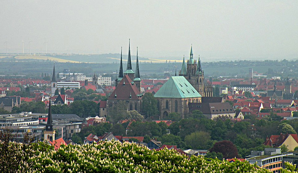 The city of Erfurt in Germany.