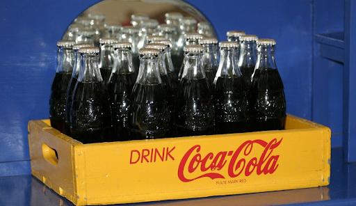 Bottles of Coca-Cola