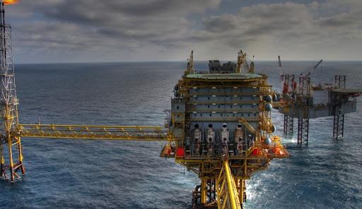ocean oil platform