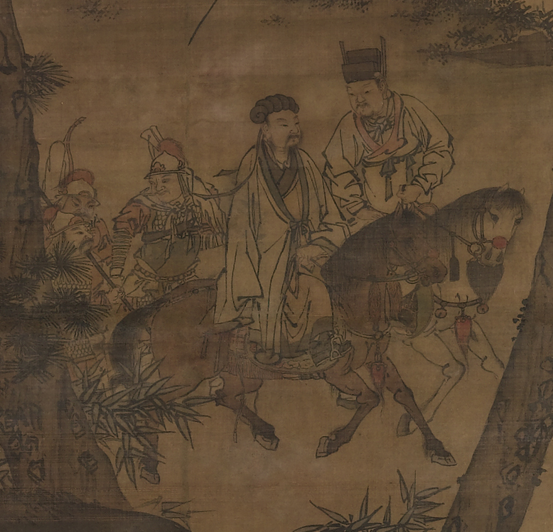 The painting Kongming Leaving the Mountains (Ming Dynasty),