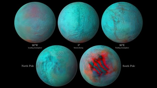 detailed infrared images of Saturn's icy moon Enceladus