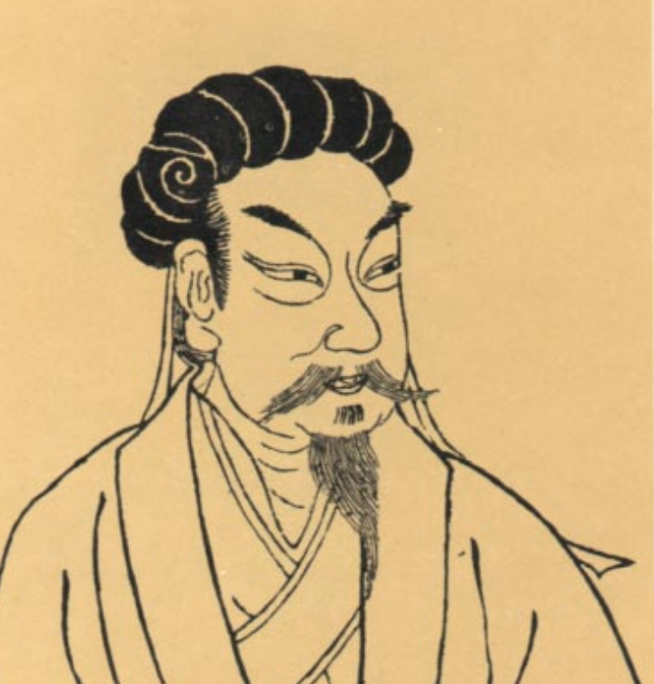 An illustration of Zhuge Liang from the Sancai Tuhui (1609).