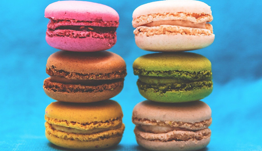 colorful macaroon pastries