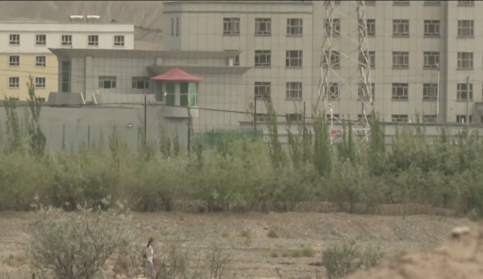 A Uyghur detention center in Xinjiang.