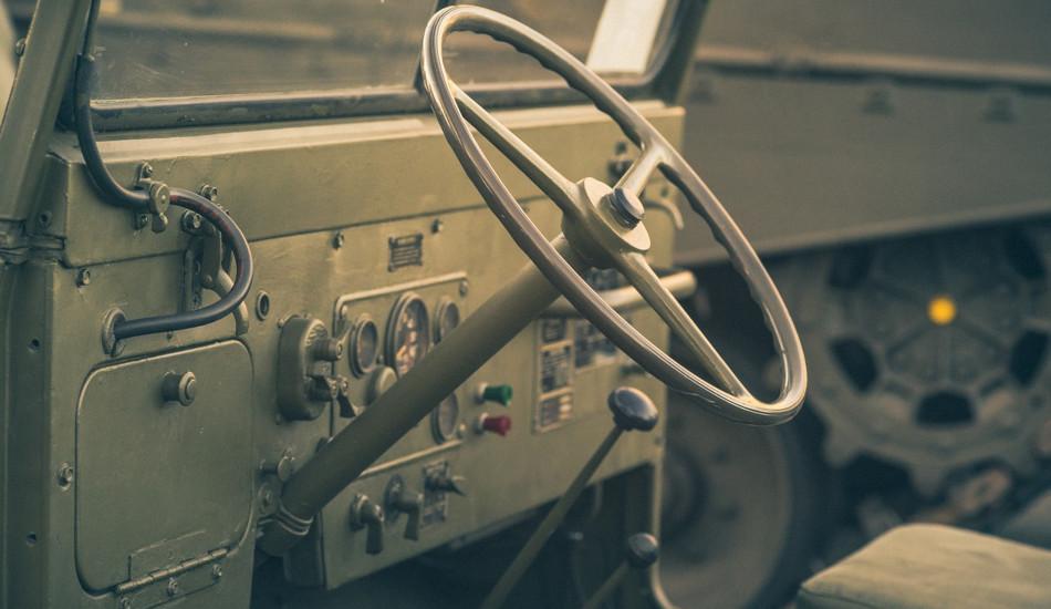 A World War 2 army jeep.