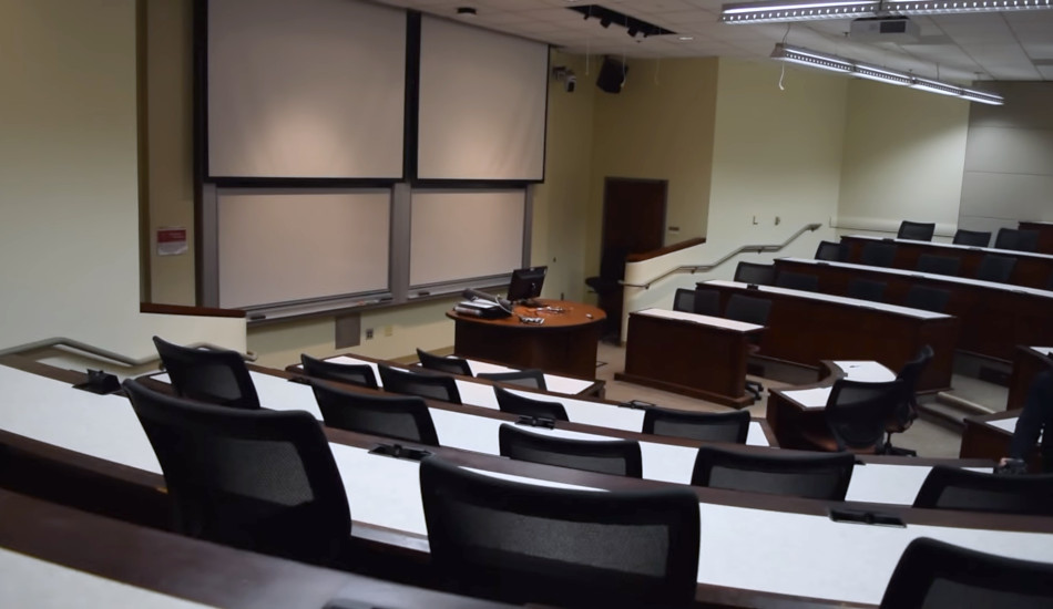 A classroom at the University of Southern California