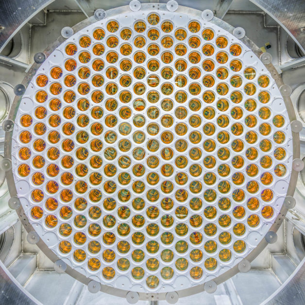 This array of photomultiplier tubes is designed to detect signals occurring within LZ's liquid xenon tank. (Image: Matt Kapust/Sanford Lab)