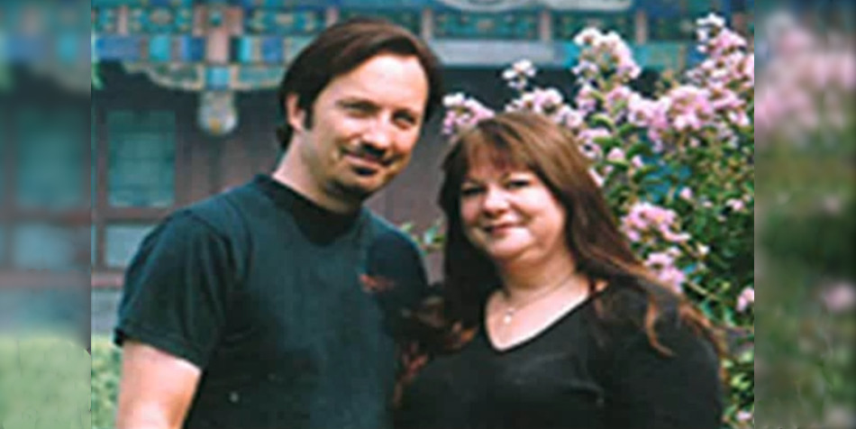 Tim Baker and his wife.