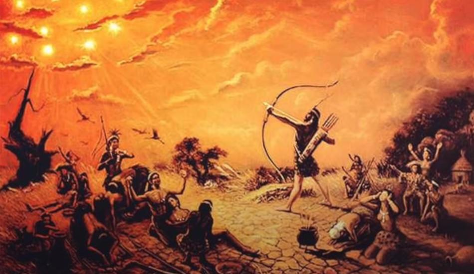 Hou Yi the archer shoots down the nine surplus suns.