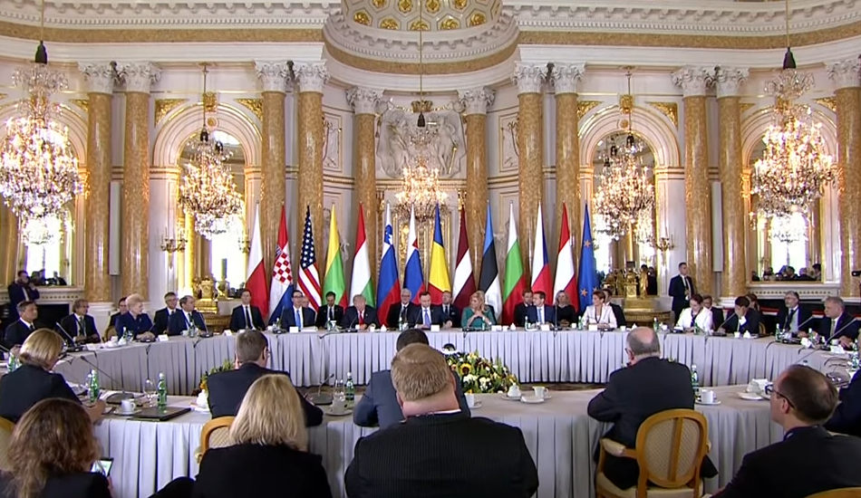 The Three Seas Initiative summit in Warsaw, Poland, in 2017.