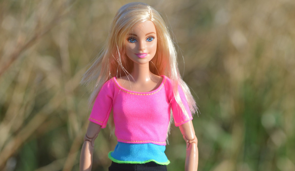 A blonde Barbie doll.