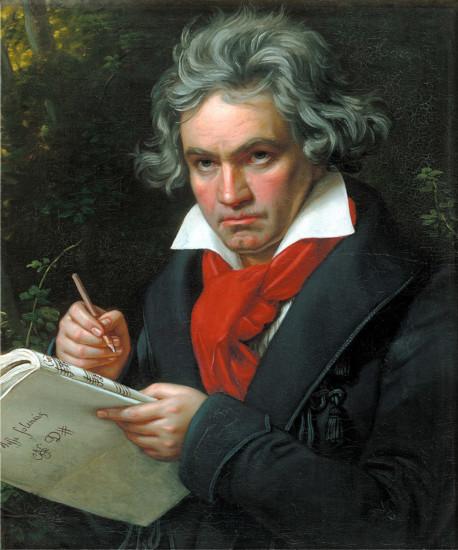 Portrait of Beethoven by Joseph Karl Stieler, 1820.