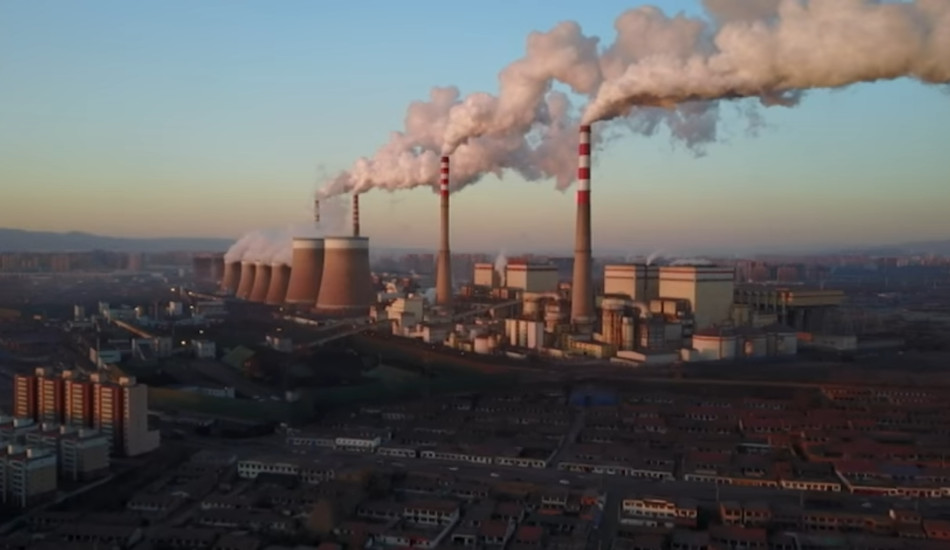 A coal power plant in China.