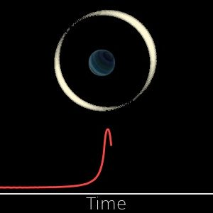 Changes of brightness of the observed star during the gravitational microlensing event by a free-floating planet. (Image: Jan Skowron / Astronomical Observatory, University of Warsaw)