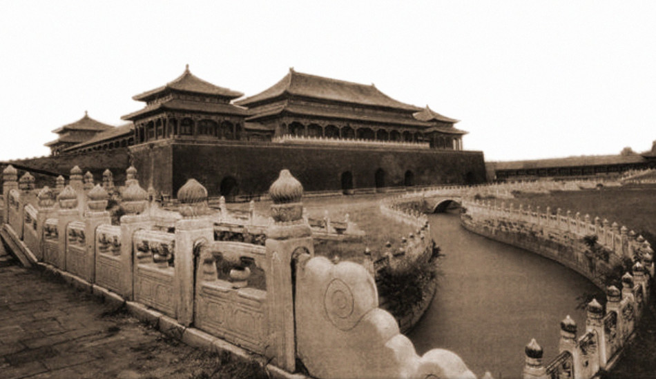 ralph repo The Meridian Gate, Entrance To The Forbidden City, Peking China [1927] Herbert C. White [RESTORED]