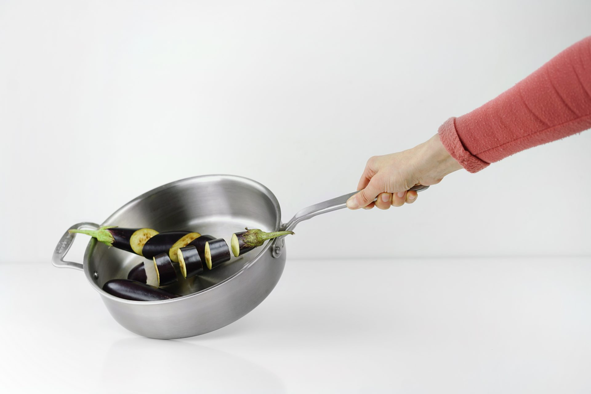 eggplant in a pan
